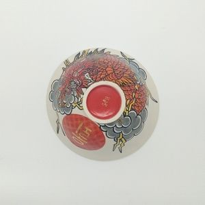 Other - Japanese Red Dragon Ceramic Porcelain Bowl Japan
